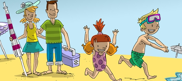 Familie am Meer - Comic